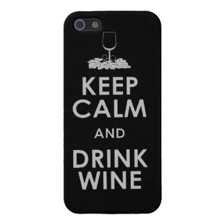 Keep Calm and drink wine grapes alcohol social dri iPhone SE/5/5s Cover