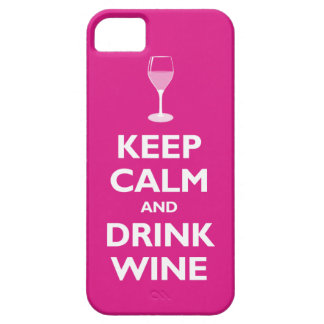 Keep Calm and Drink Wine (hot pink) iPhone 5 Covers