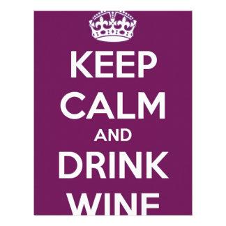 Keep Calm and Drink Wine Letterhead