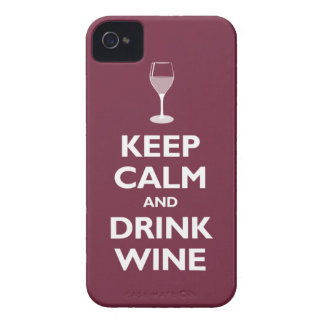 Keep Calm and Drink Wine (merlot) iPhone 4 Cover