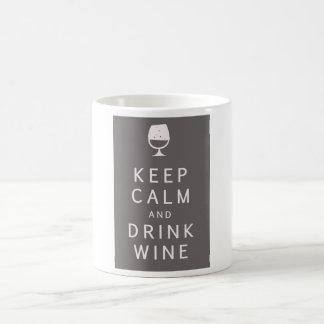 Keep Calm and Drink Wine Coffee Mugs