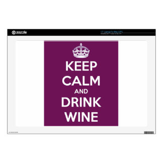 Keep Calm and Drink Wine Skin For Laptop