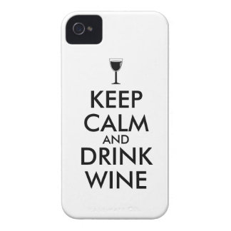 Keep Calm and Drink Wine Wine Lover Custom iPhone 4 Case-Mate Case