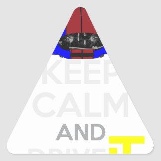 Keep Calm and Drive IT - cod. 1965Cobra427 Triangle Sticker