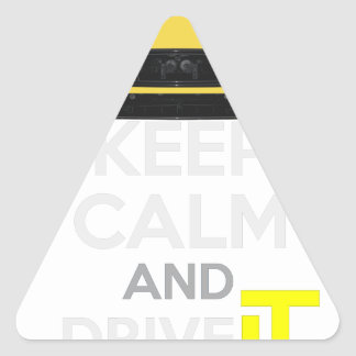 Keep Calm and Drive IT - cod. A-SVantageS Triangle Sticker