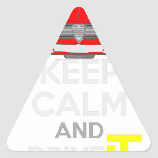 Keep Calm and Drive IT - cod. GiuliaTi Triangle Sticker