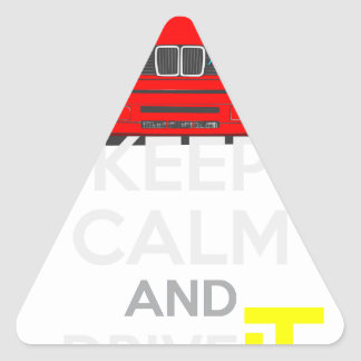 Keep Calm and Drive IT - cod. M3E30 Triangle Sticker
