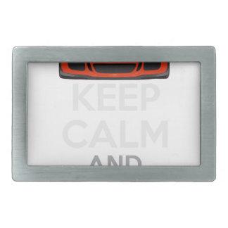 Keep Calm and Drive IT - codPRSC Rectangular Belt Buckle