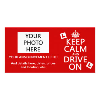 Keep Calm and Drive on (learner) (any color) Card