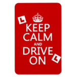 Keep Calm and Drive on (learner) (any color) Magnet