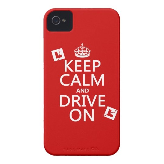 Keep Calm and Drive On (learner) Case-Mate iPhone 4 Case