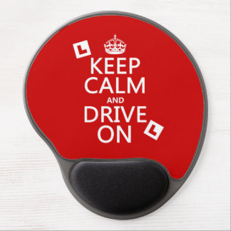 Keep Calm and Drive On (learner) Gel Mouse Pad