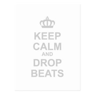 Keep Calm And Drop Beats - DJ Disc Jockey Music Post Cards