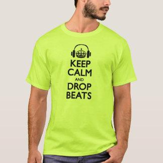 'Keep Calm and Drop Beats' T-Shirt - Lime