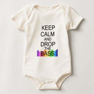 Keep Calm and Drop The Bass Baby Bodysuit