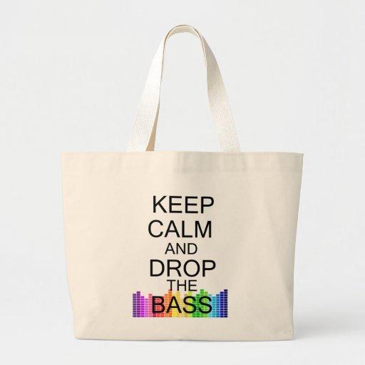 Keep Calm and Drop The Bass Jumbo Tote Bag