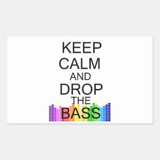 Keep Calm and Drop The Bass Rectangular Sticker