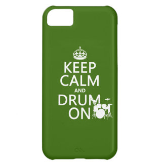 Keep Calm and Drum On (any background color) Cover For iPhone 5C