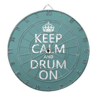 Keep Calm and Drum On (any background color) Dart Board