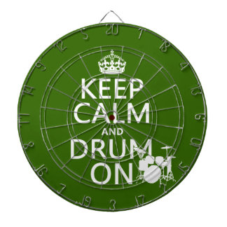 Keep Calm and Drum On (any background color) Dartboard