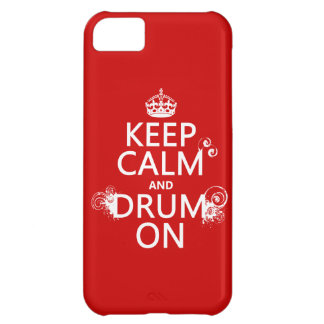 Keep Calm and Drum On (any background color) iPhone 5C Cover