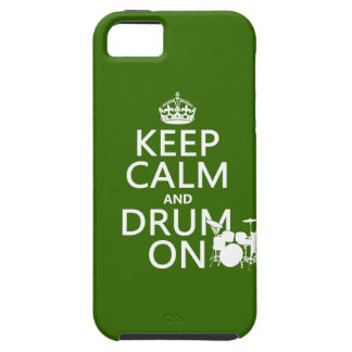 Keep Calm and Drum On (any background color) iPhone SE/5/5s Case
