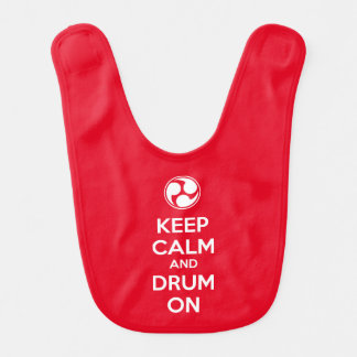 Keep Calm and Drum On Baby Bib