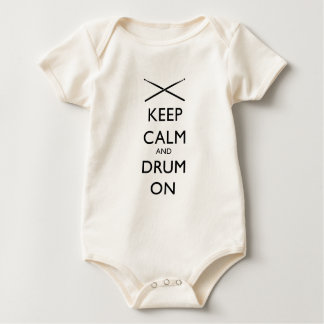 Keep calm and Drum On! Baby Bodysuit