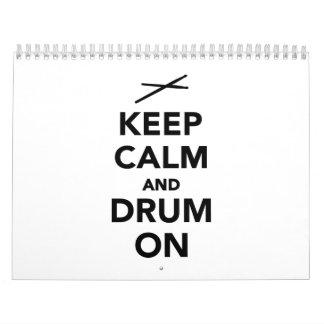 Keep calm and drum on calendar