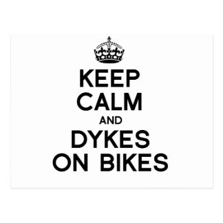 KEEP CALM AND DYKES ON BIKES -.png Postcard