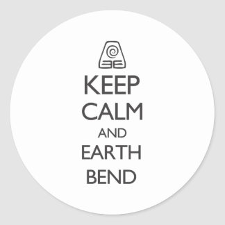 Keep Calm and Earth Bend Classic Round Sticker