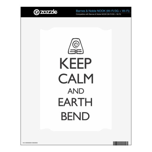 Keep Calm and Earth Bend Decal For NOOK