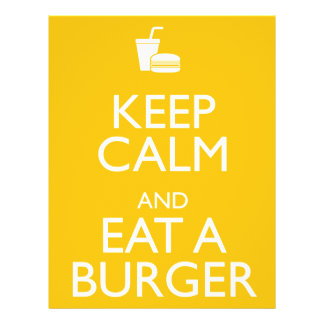 KEEP CALM AND EAT A BURGER FLYER
