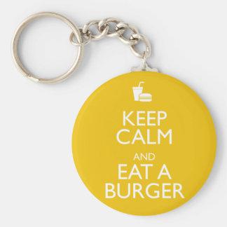 KEEP CALM AND EAT A BURGER KEYCHAIN