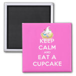 Keep Calm and Eat a Cupcake 2 Inch Square Magnet