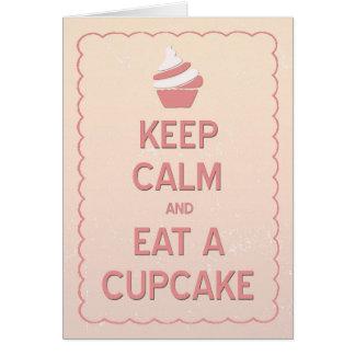 Keep Calm and Eat a Cupcake Birthday Card