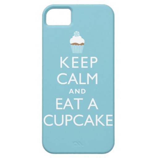 Keep Calm and Eat a Cupcake {blue} iPhone SE/5/5s Case