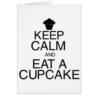 Keep Calm and Eat a Cupcake Card