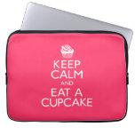 Keep Calm and Eat A Cupcake Computer Sleeve