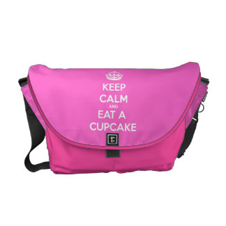 Keep Calm and Eat a Cupcake Courier Bag