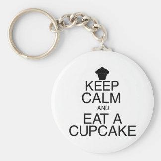 Keep Calm and Eat a Cupcake Key Chain