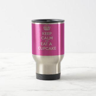 Keep Calm and Eat a Cupcake 15 Oz Stainless Steel Travel Mug