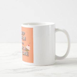 Keep calm and eat a cupcake basic white mug