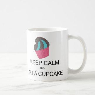 Keep Calm and Eat a Cupcake Mug Blue