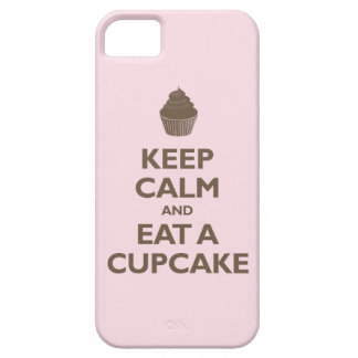 Keep Calm and Eat A Cupcake (pink and brown) iPhone 5 Case