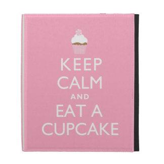 Keep Calm and Eat a Cupcake {pink} iPad Folio Covers