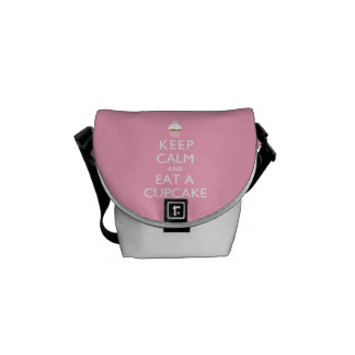Keep Calm and Eat a Cupcake {pink} Courier Bag