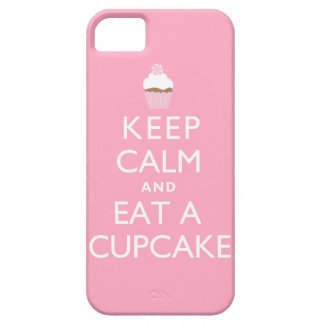 Keep Calm and Eat a Cupcake {pink} iPhone SE/5/5s Case