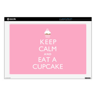 Keep Calm and Eat a Cupcake {pink} Laptop Skin