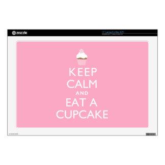 Keep Calm and Eat a Cupcake {pink} Laptop Skin